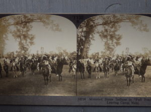 "Sioux Indians in ""Full Feather"" Stereo Card"