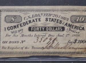 $1000 Confederate States Bond