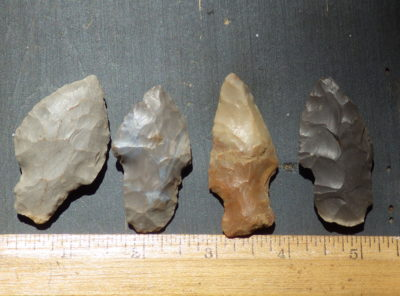 Group of 4 Nice Field Grade Arrowheads