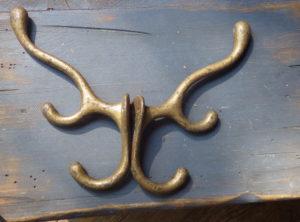 Antique Hardware – Large Triple Coat/Saddle Hooks