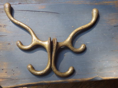 Antique Hardware – Large Triple Coat/Saddle Hooks
