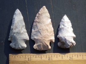 3 Midwest Native American Arrowheads