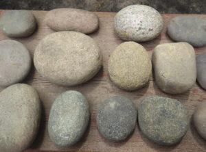 15 Native American Hammerstones, Gamestones, Grinders and Pecking Stones