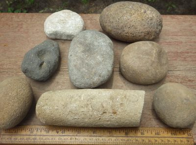 Native American Hammerstones, Nutting Stones, Pestles and Game Stones
