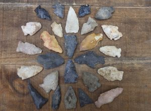 Collection of 26 Native American Arrowheads – Reserved